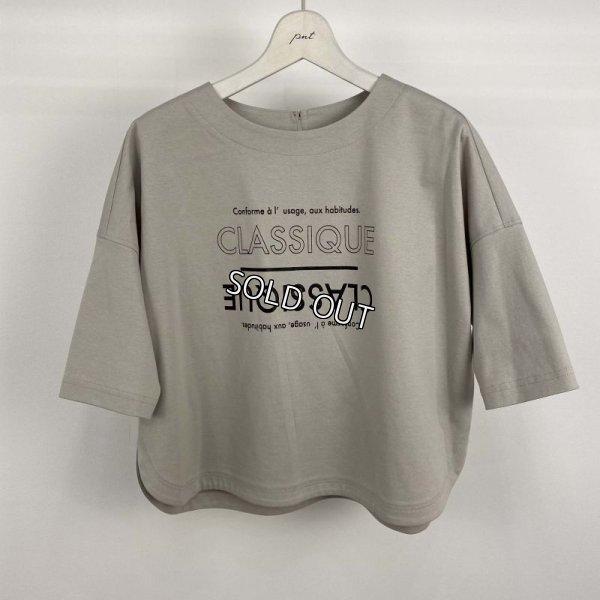 画像1: [PNT]トップス Tシャツ 英字プリント カットソー (1)
