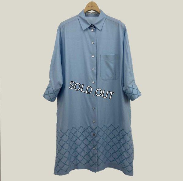 画像1: [PINETA]刺繍シャツ (1)
